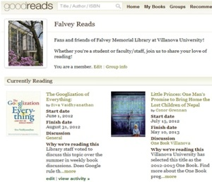 Falvey Library on GoodReads
